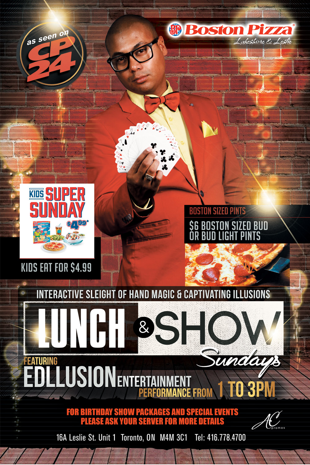 lunch and stand up magic show edllusion
